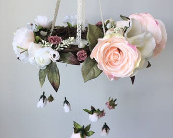 Blush Floral Mobile