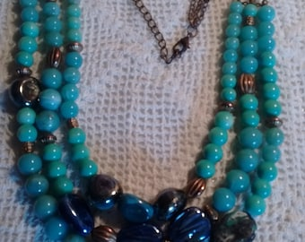 Vintage Blues:  Necklace