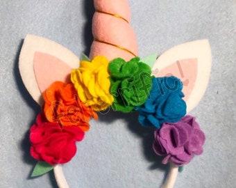 Handmade Unicorn headband