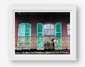 French Quarter Wall Art, New Orleans Art Print, New Orleans Art, New Orleans Prints, NOLA Artwork, New Orleans Wall Art, Balcony Wall Art
