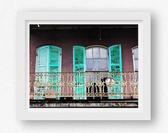 Französische Viertel Wandkunst, Kunstdruck von New Orleans, New Orleans Kunst, Drucke von New Orleans, New Orleans Wandkunst, NOLA Artwork, Balkon Wand Kunst