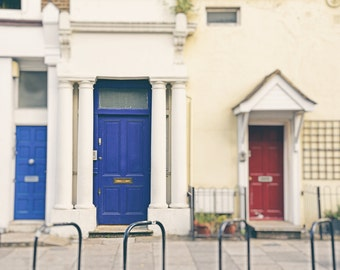 Notting Hill, Blue Door, London Photography, London Wall Art, Film, Movie Lover Gift, London Decor