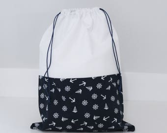 Lined with white cotton DrawString storage/bag lingerie/underwear-