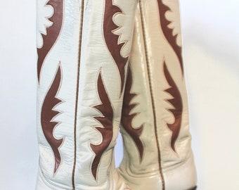 Vintage Women's Tall Cowboy Boots Laramie 6.5