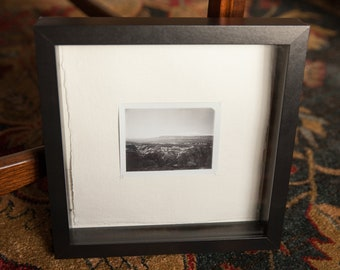 Framed Original Photograph Hand-stitched on Watercolor Paper with Deckled Edge