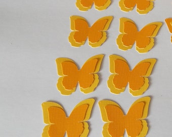 layered butterfly, die cut butterfly, orange butterfly, yellow butterfly, paper butterfly, butterfly embellishment