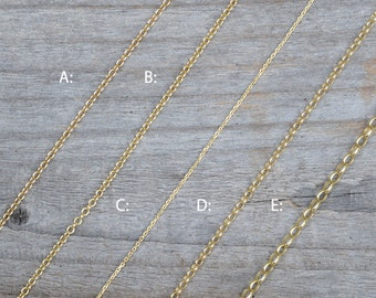 "Solid 9ct Yellow Gold Chain, Trace Chain And Belcher Chain, 16"", 18"", And 20"", Made In England"