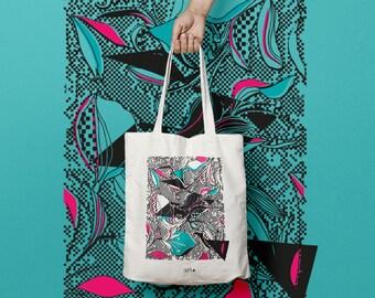 Tote bag pattern iris or cotton bag