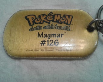Vintage 1998 Pokeman Key Chain/Magmar #126