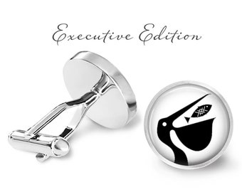 Pelican Cufflinks - Pelicans Cuff Links - Sea Bird Cufflink (Pair) Lifetime Guarantee (S1452)