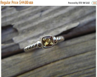 ON SALE Citrine ring handmade in sterling silver