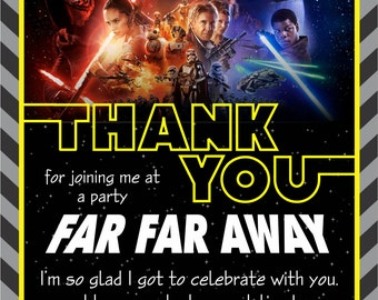 "Star Wars ""The Force Awakens"" Thank You Card"