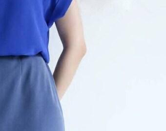 RINKA SKIRT- cupro maxi skirt