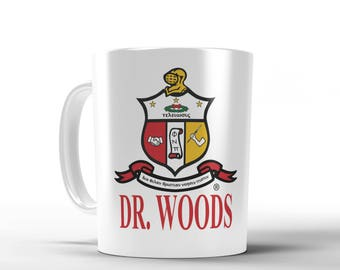 Kappa Alpha Psi Personalized Mug - Pearl White Metallic Mug - Personalized with Name, 1911 Mug, Fraternity Mug