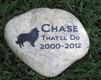 Personalized Pet Memorial Stone Sheltie Headstone Gravestone Marker Memorial Burial Stone Grave Marker 9-10 inch