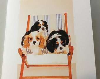 King Charles Cavalier Summer Party invitation