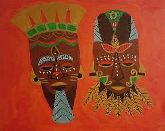 King and Queen Masks