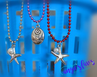 Ball Chain Necklaces, Starfish, Be Yourself