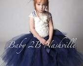 Navy Dress Flower Girl Dr...