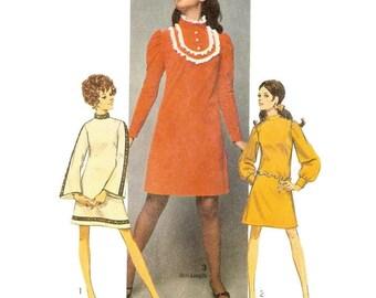 1960s A Line Mini Dress Pattern Simplicity 8365 B36 Sz 14