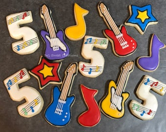 Music-Guitar Sugar Cookies