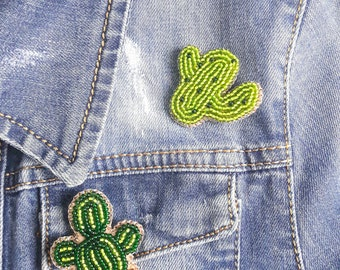 Brooches Cactus and Pineapple