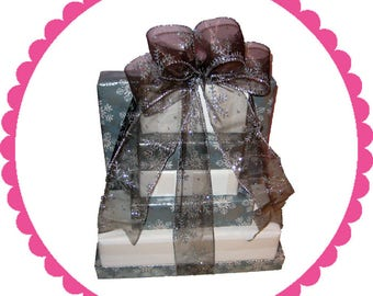 Gourmet Chocolate Gift Tower 9-Peppermint Bark And More!