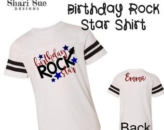 Youth Birthday Rock Star Shirt, personalized youth birthday shirt, personalized youth shirt, birthday shirt