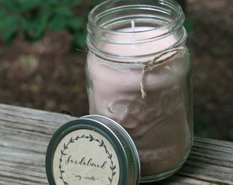 Hand-poured All Natural Soy Candle, 16 oz. // Pick your Scent // Mason Jar Candle // 100% Soy Wax // All Natural Birthday, Hostess gifts