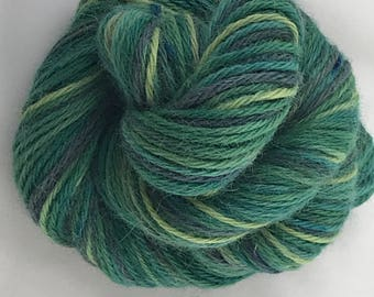"""100yds Worsted Hand Dyed Alpaca Yarn 50g - """"Northern Pines"""""""