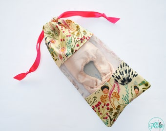 Wild Flowers | Ballet Pointe Shoe Bag - Dance Shoe Bag - Ballet Bag