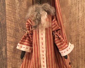 Black Santa Claus Doll Primitive Folk Art Christmas Decor