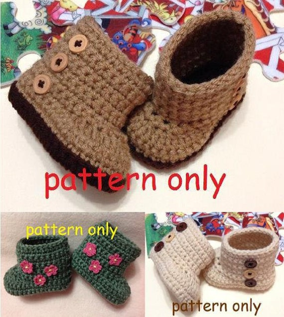 0-3 months Crochet Pattern Crochet Baby Boots Booties