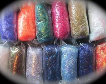 Angelina Fiber Collection 15 Colors 8 Gram/.25 Oz Portions (3.75 - 4 OZ) Sampler