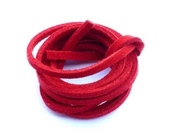 Red suede cord