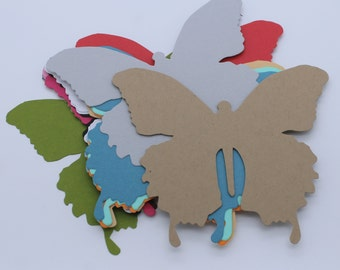 Butterfly, cut paper cardstock supply made handmade multicolored embellishment, scrapbooking, cardmaking, animal, nature, Easter