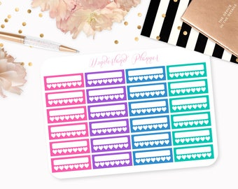 Jewel Tone Weekly Habit Tracker Planner Stickers // Perfect for Erin Condren Vertical Life Planner