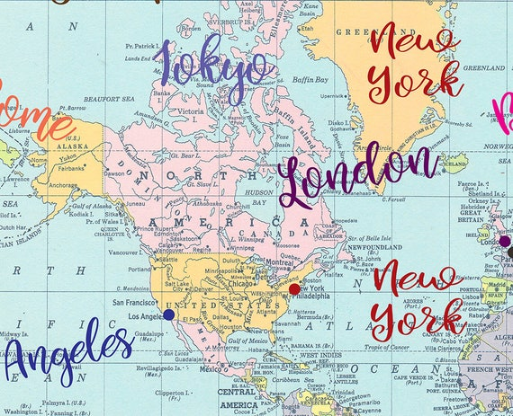 Fashion capitals pillow case colorful world map fashion fashion capitals pillow case colorful world map fashion cities paris london milan new york bedroom decor art curate the bedroom gumiabroncs Choice Image