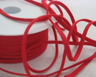 Red flat cord by the yard