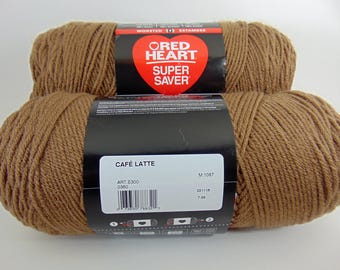Cafe Latte -  Red Heart Super Saver yarn 100 % acrylic worsted weight - 1800