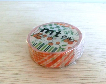 mt ex washi masking tape – Flower Orange