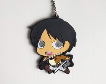 Attack on Titan Eren Yeager Keyring Cute Anime Gift Toy Charm