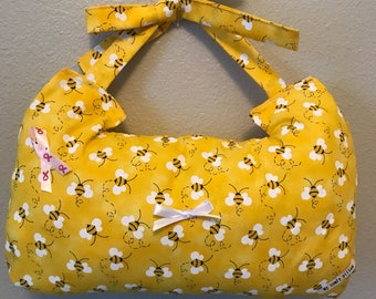 Mastectomy pillow- bumble bee pattern- larger size- geeat reviews!