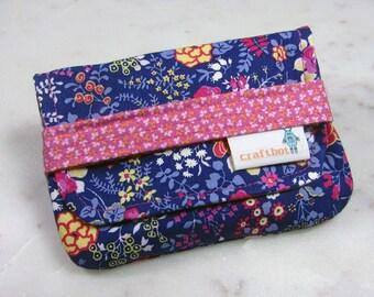 Sanitary Pad Holder, Pad Holder, Navy Blue Floral, Tampon Case, Sanitary Pad Case, Tampon Holder, Sanitary Napkins, Period Case, Card Case