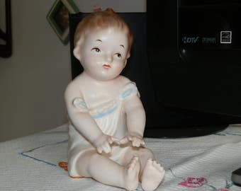 Vintage Bisque Piano Baby-Boy