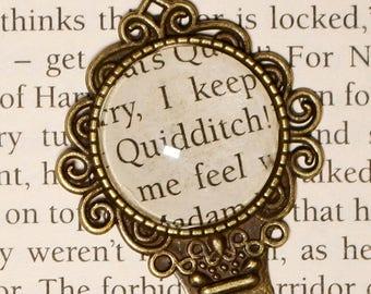 Harry Potter Quidditch Bookmark Retro Bronze Book page Cabochon