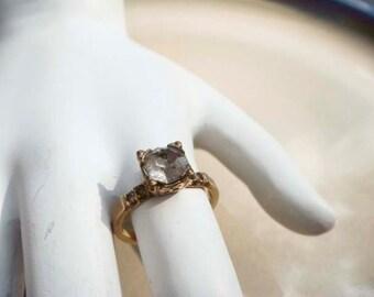 Vintage Uncas gold diamond ring size 5