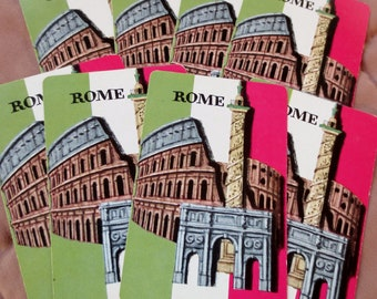 6 Rome Vintage Playing Cards