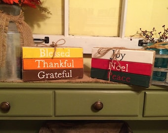 Reversible Fall and Christmas Rustic Sign