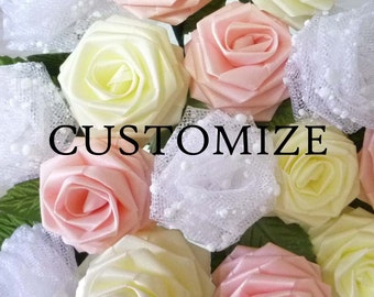 50 Single Origami Roses (Pick Your Colors / Made to Order), Origami Rose, Wedding Pary Favors